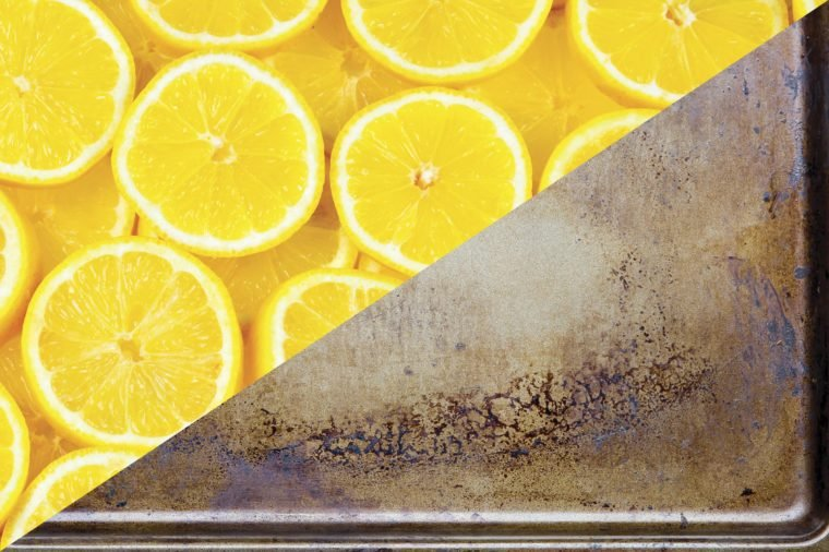 things to clean with lemons greasy pots and pans