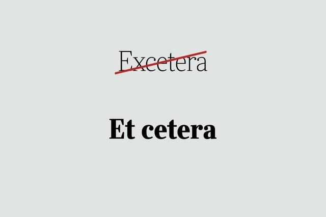 phrases you're using wrong et cetera