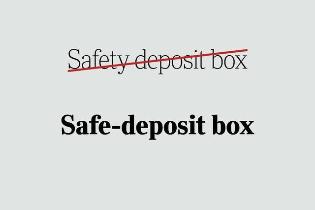 phrases you're using wrong safe-deposit box