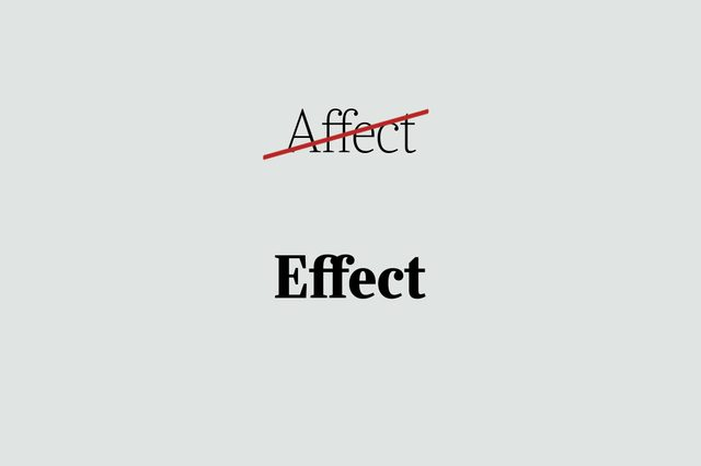 phrases you're using wrong effect
