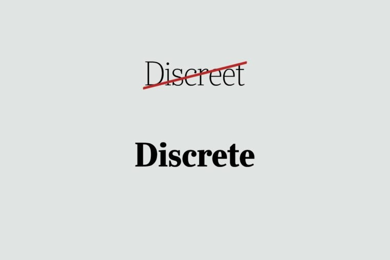 phrases you're using wrong discrete