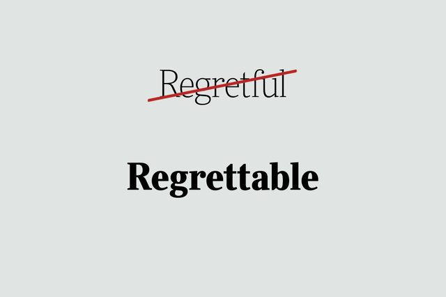 phrases you're using wrong regrettable