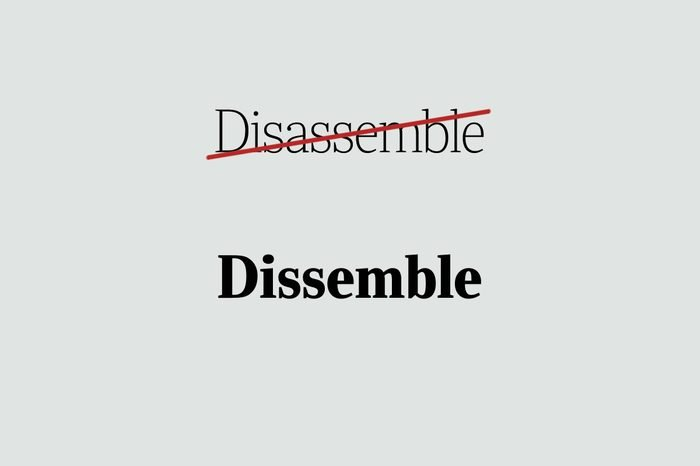 phrases you're using wrong dissemble
