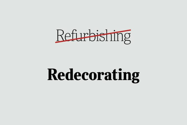 phrases you're using wrong redocrating