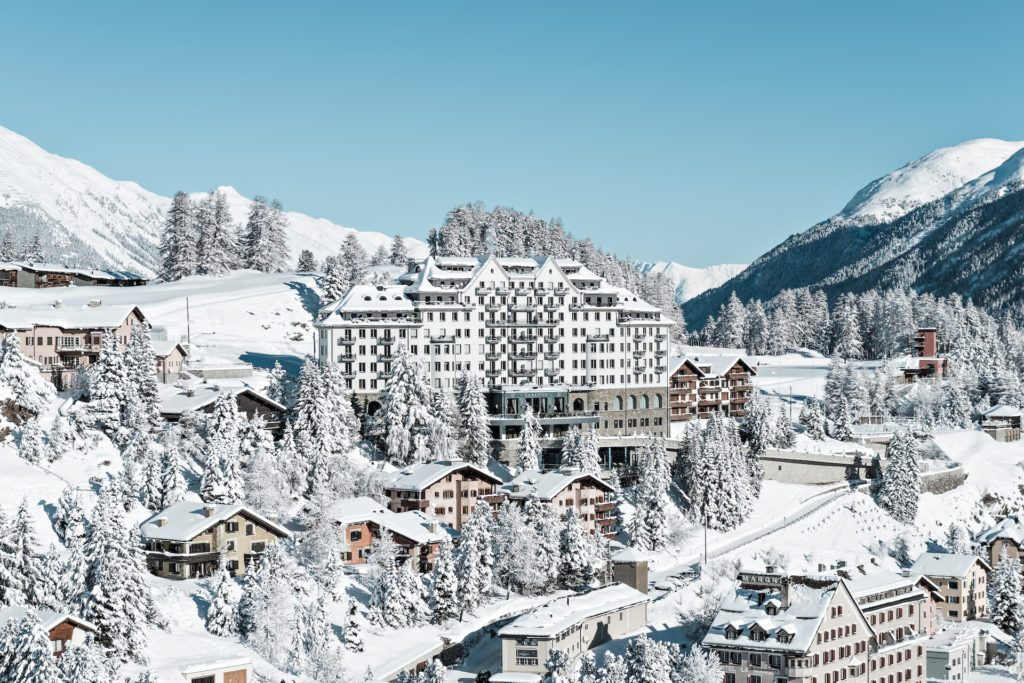 Carlton Hotel St. Moritz swiss town winter mountain