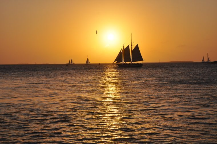key west pier sunset