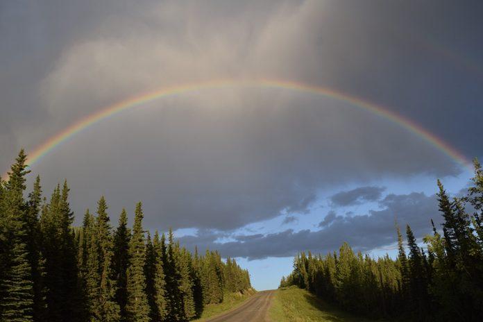 rainbow drive road ALCAN in British Colombia