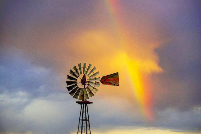spring rainbow windmill