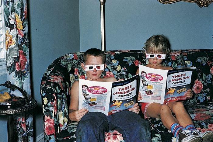 3D comic books vintage photo