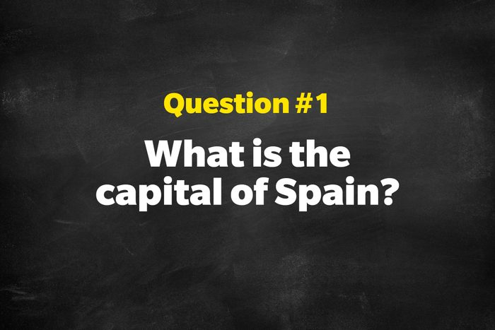 Question #1: What is the capital of Spain?