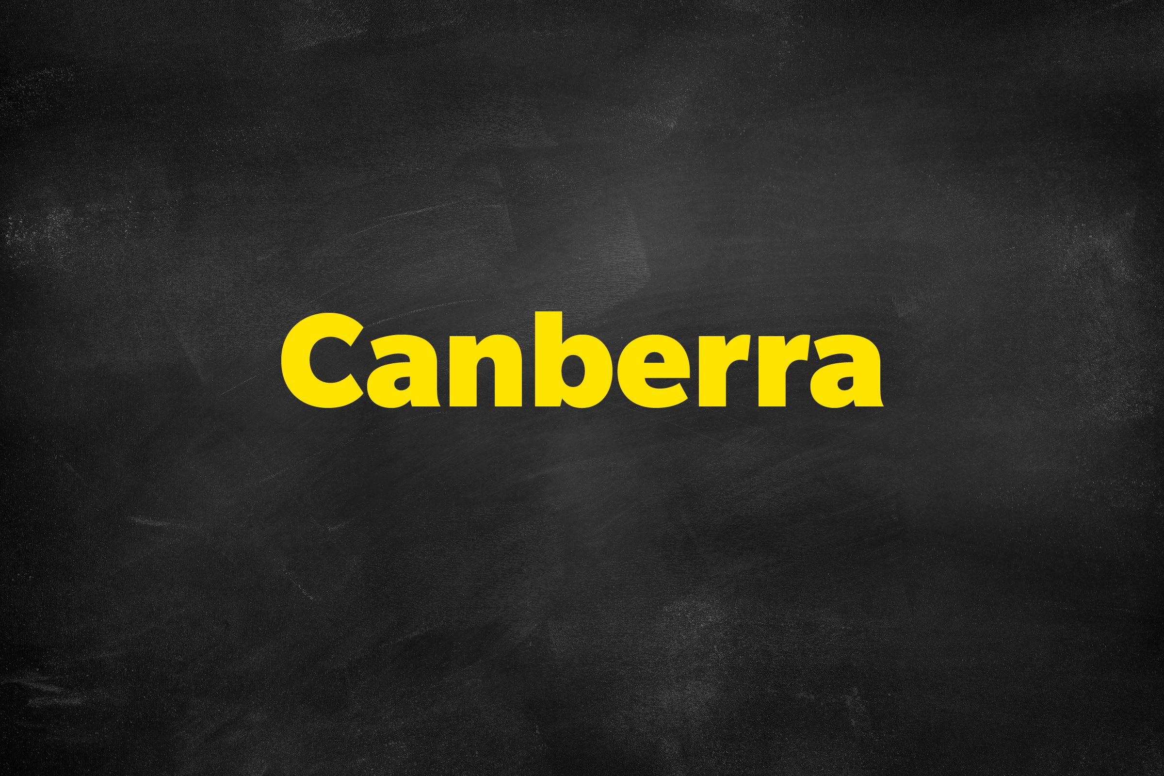 Answer: Canberra