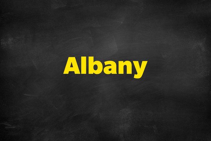 Answer: Albany