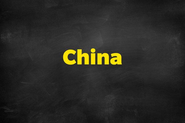 Answer: China