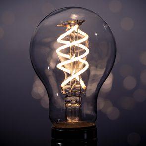 lightbulb. a light in the darkness.