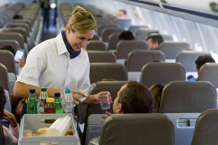 airplane food and drinks