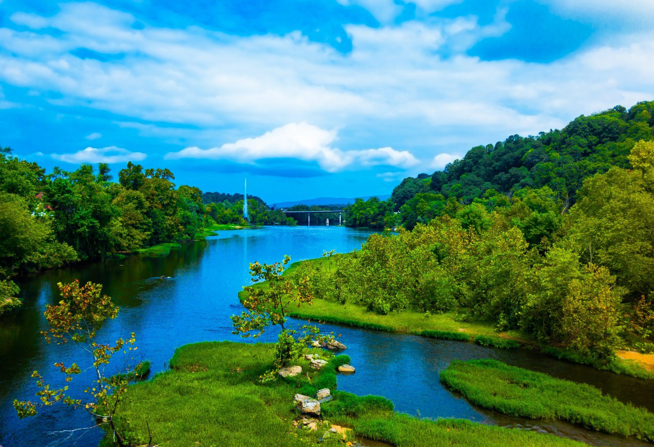 Lynchburg Virginia at the James River walk