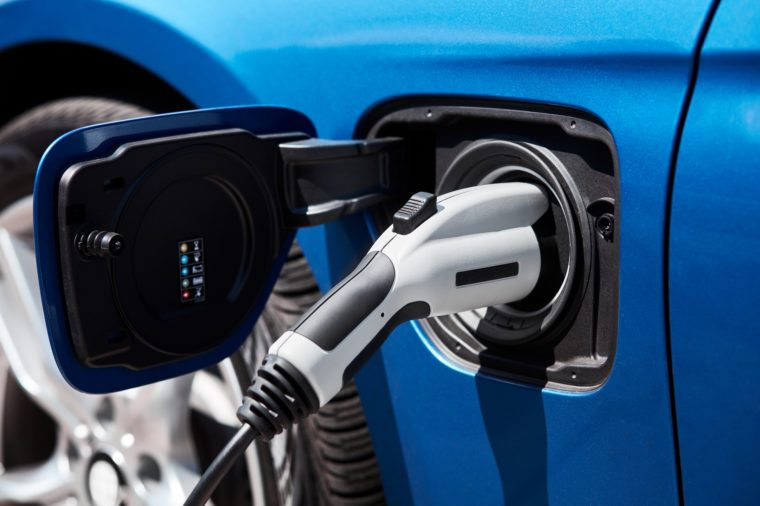 Charging an electric car or plug in hybrid