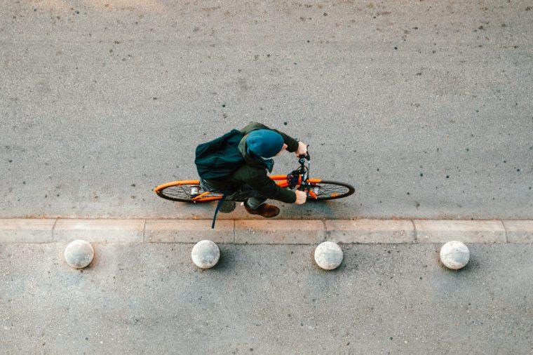 Urban cyclist on the street