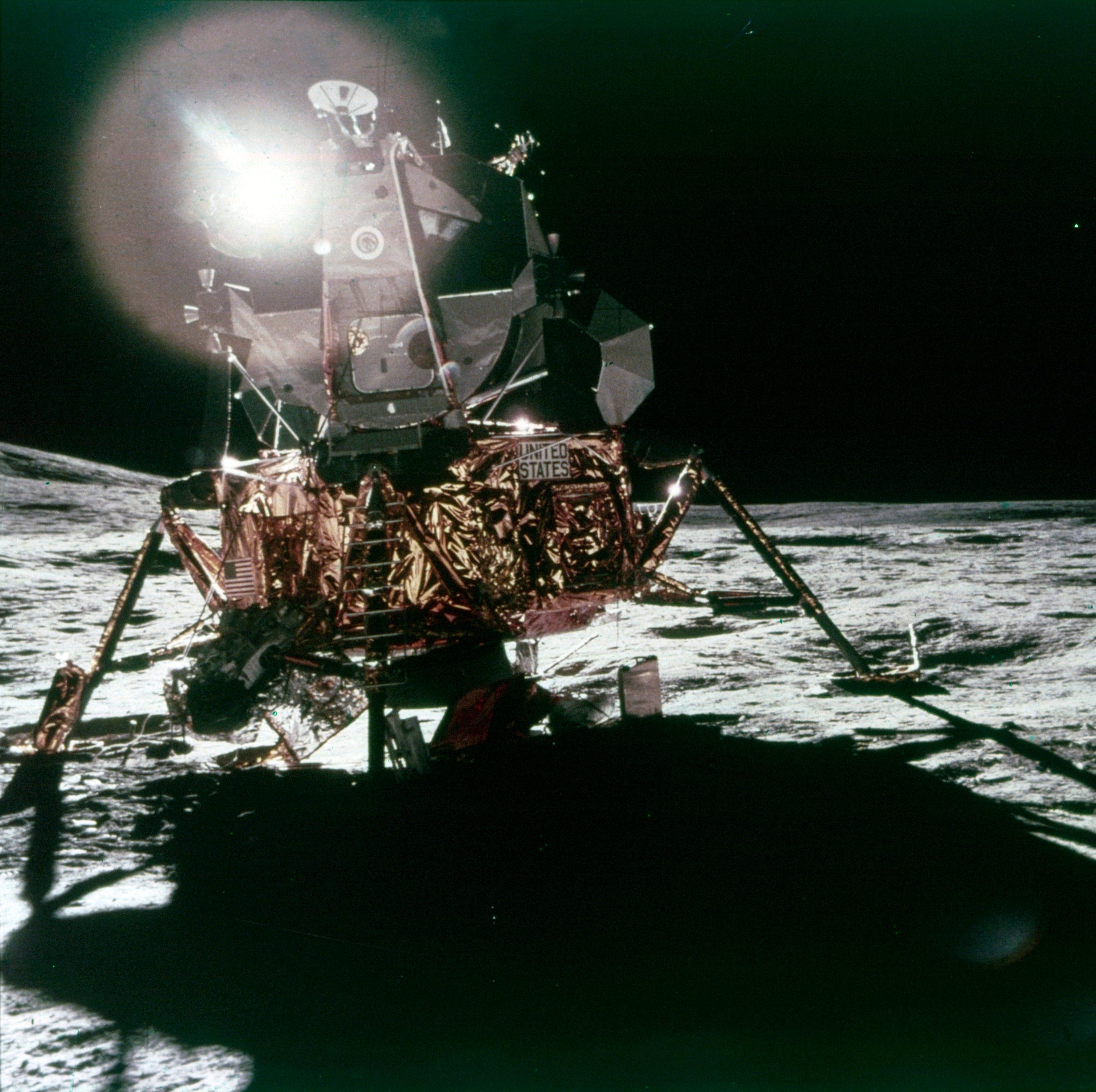 Lunar Module Antares On The Moon,