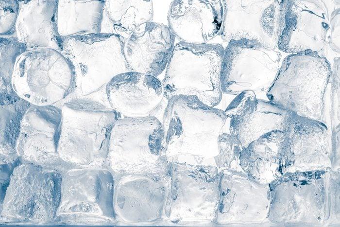 Ice cubes translucent background.