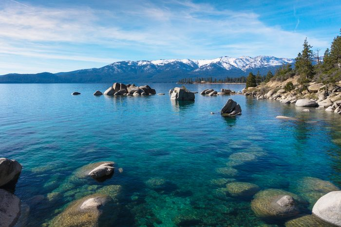 view from the shores of Lake Tahoe
