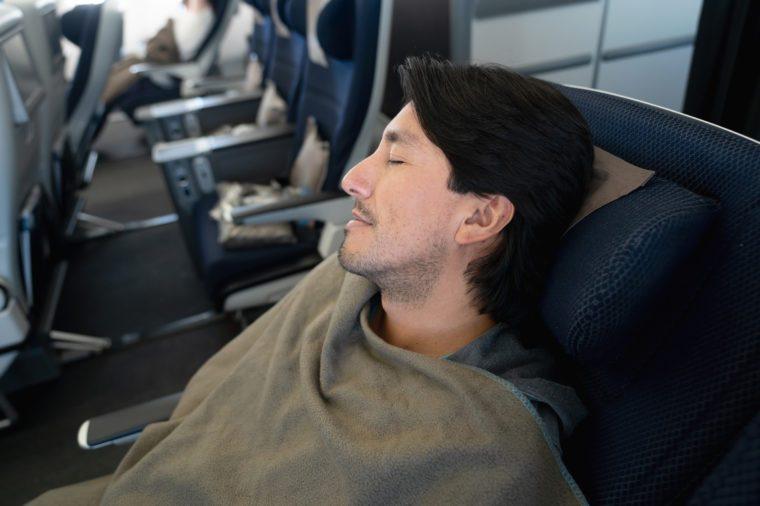 airplane blanket