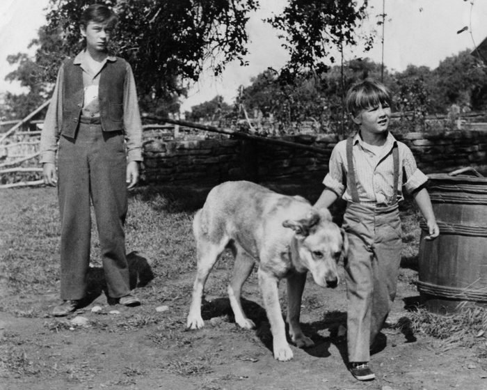 Tommy Kirk And Kevin Corcoran In Old Yeller