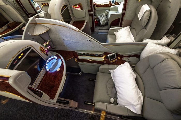 first class pajamas airplane