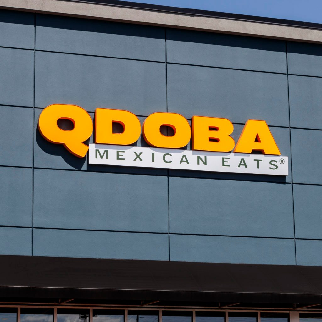 Qdoba Mexican Grill Fast Casual Restaurant. Qdoba was purchased by Apollo Global Management in 2018 II
