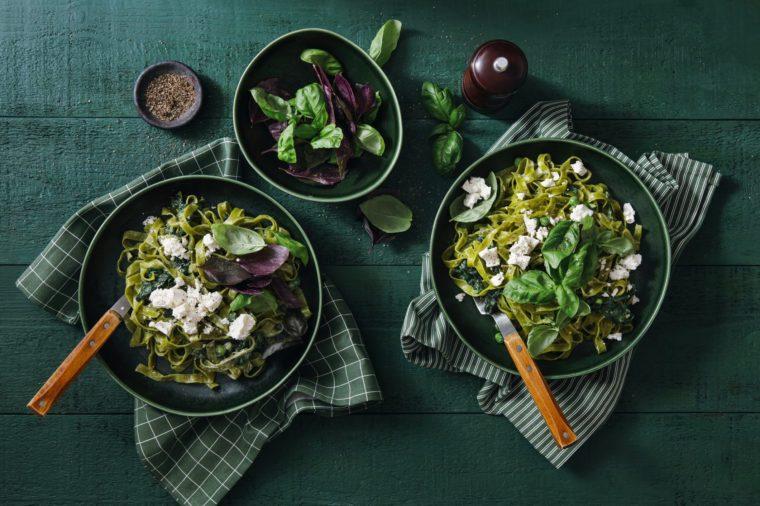 Vegan Gluten-Free Creamy Spinach Pasta