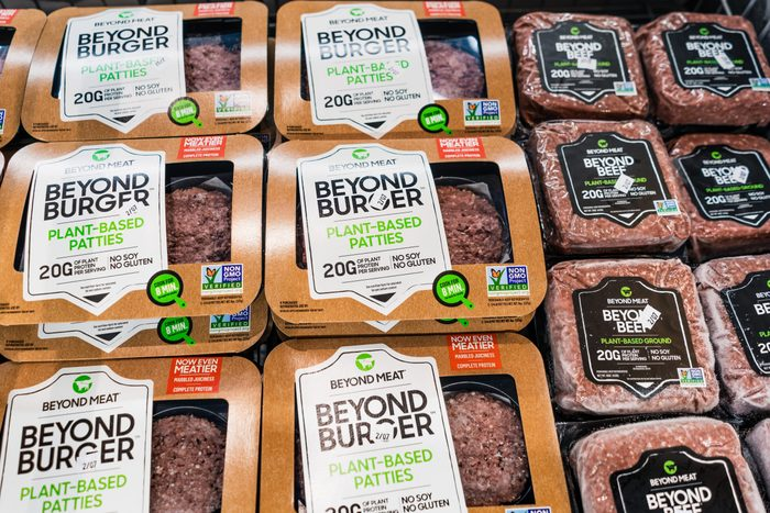Beyond Burger and Beyond Beef packages
