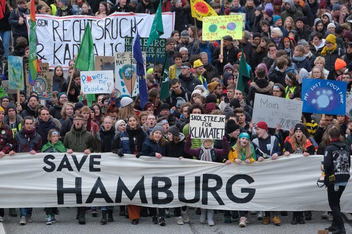Greta Thunberg Attends Climate Protest In Hamburg