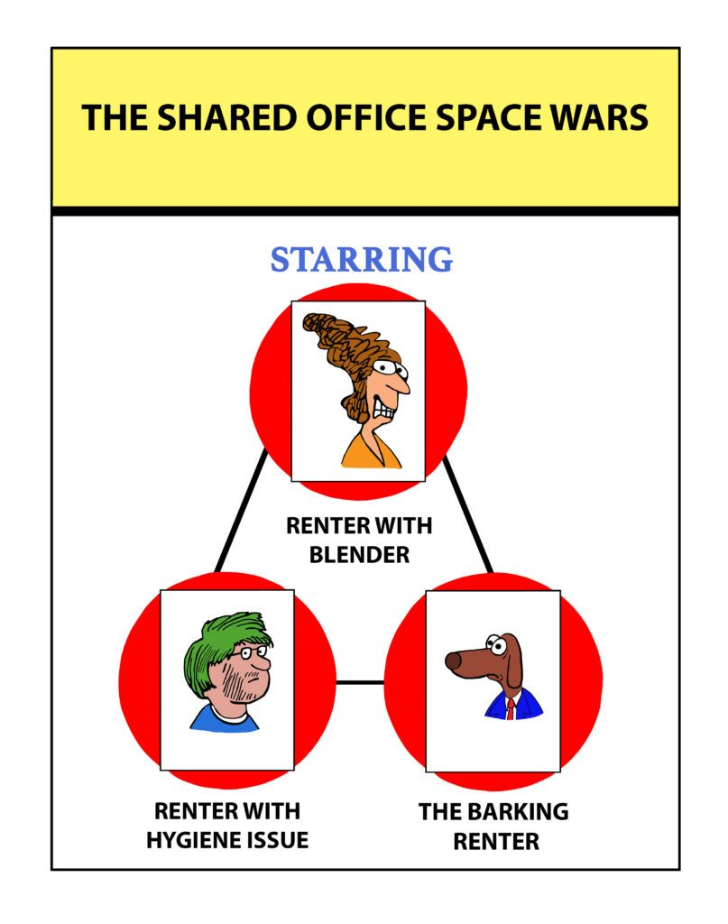 Shared Office Space Wars