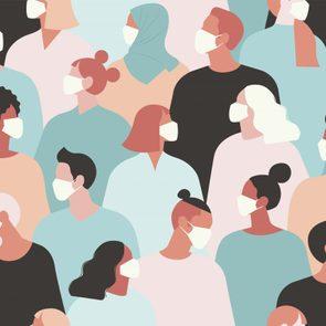 coronavirus masks illustration