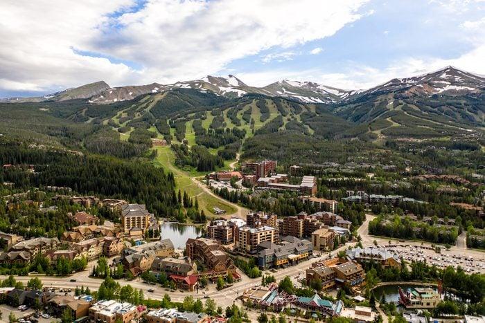 Aerial drone photo - Rugged Rocky Mountains of Breckenridge, Colorado