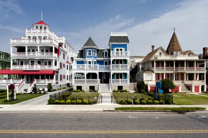 Colorful Victorian style houses in Cape May, New Jersey