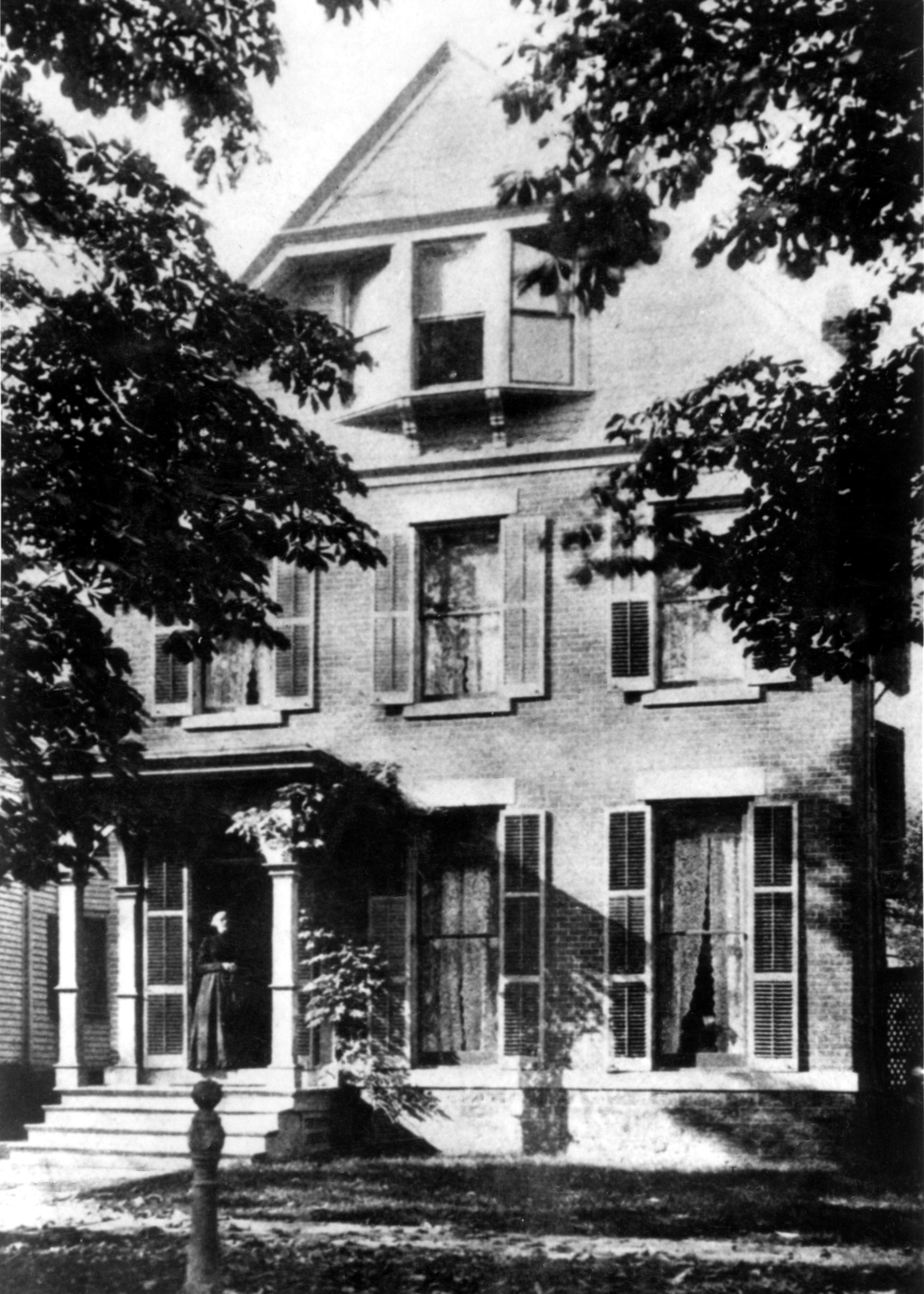 Susan B. Anthony Outside Her Home