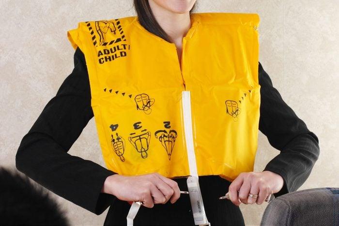 flight attendant life jacket life vest