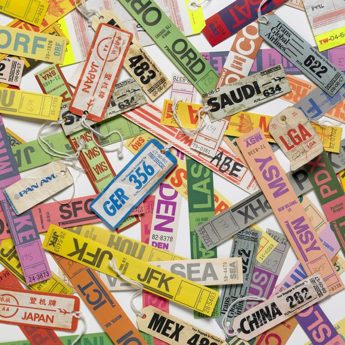 Miscellaneous Airline Luggage Tags