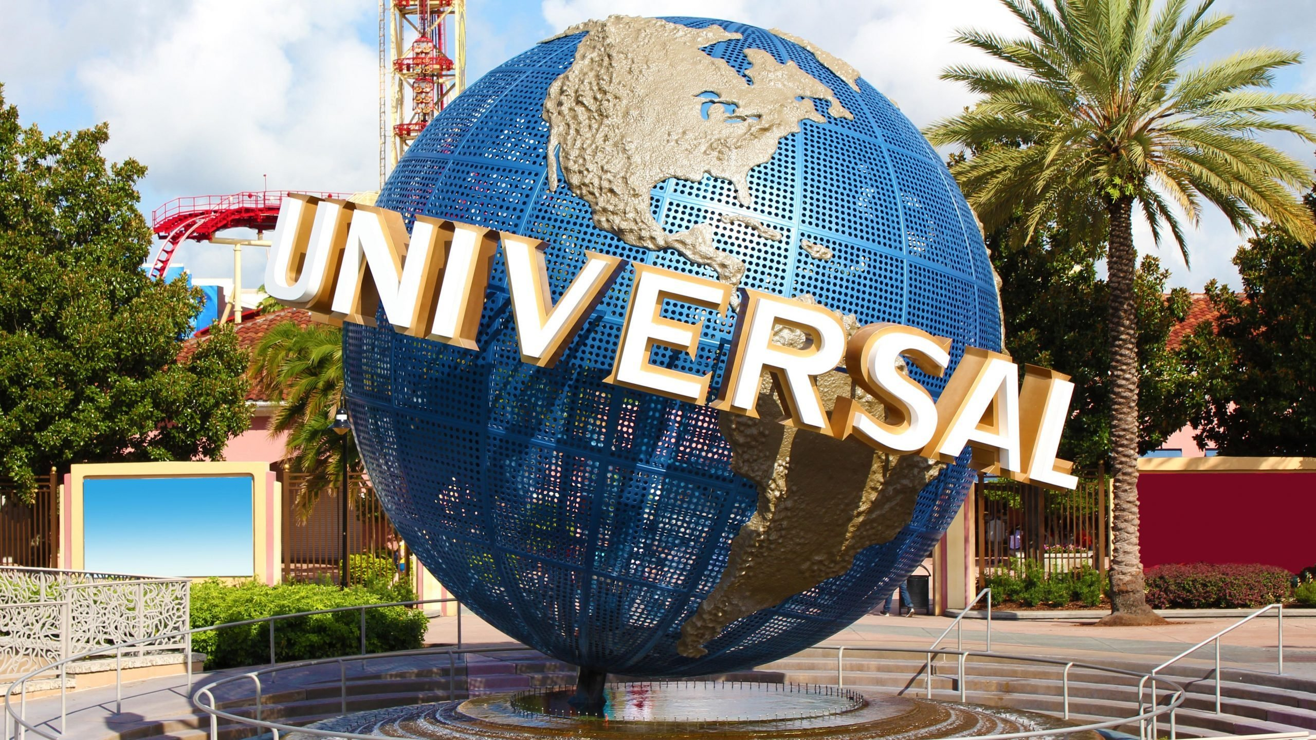 Orlando, Florida, United States - July 02, 2011. Universal Studios globe sign at entrance.