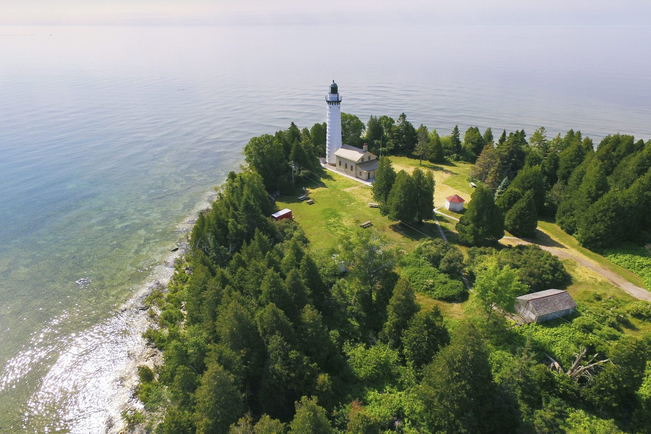 Cana Island Lighthouse on Lake Michigan, Door County Wisconsin