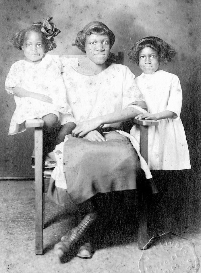 African-American Mother Posing