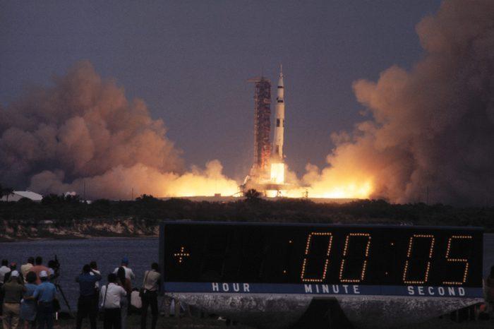 Apollo 13 Spacecraft Lifting Off