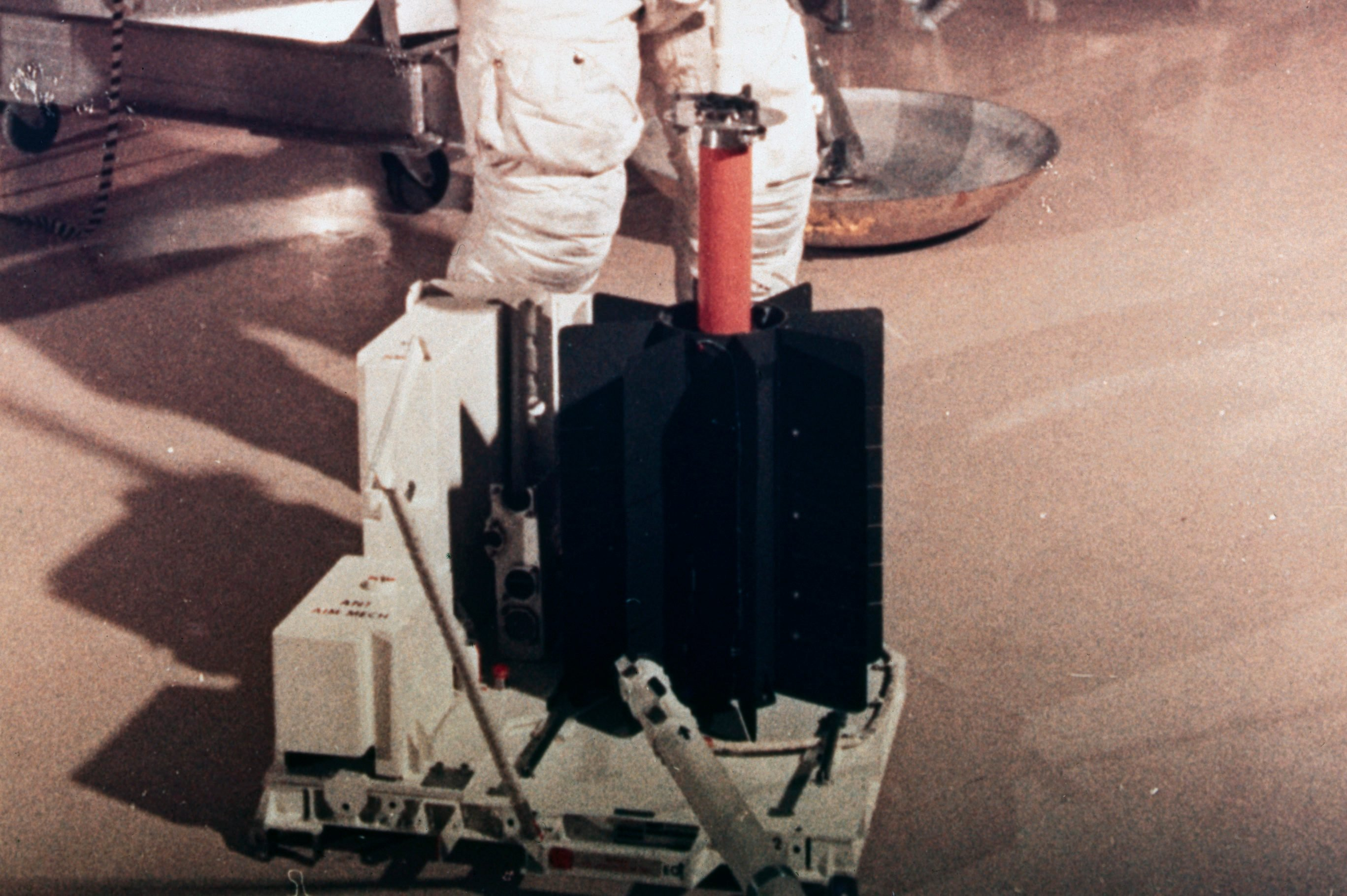 Edgar Mitchell Inserting Fuel Capsule to RTG