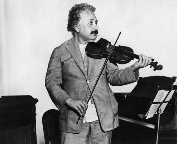 Einsten Plays Violin