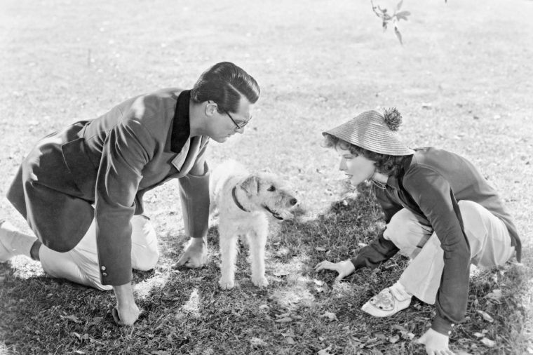 Cary Grant and Katharine Hepburn Acting a Scene from Bringing Up Baby