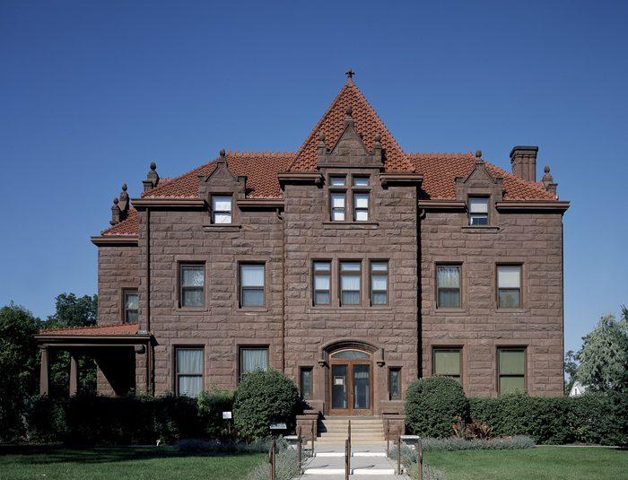 Red sandstone Moss Mansion, Billings, Montana