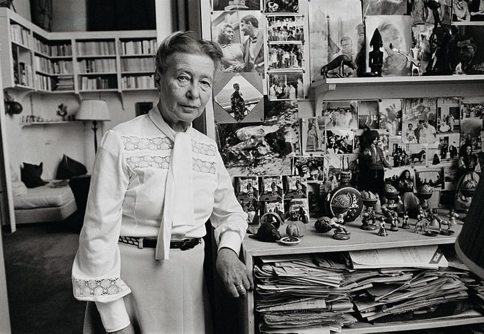 Simone de Beauvoir at Home in Paris