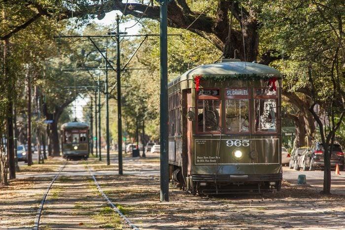 Saint Charles Street Street Car in New Orleans, Louisiana