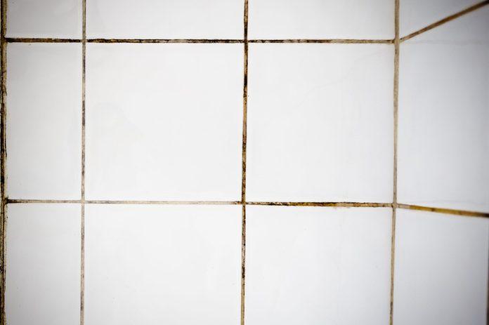 Cleaned versus Dirty Grout Bathroom Tiles